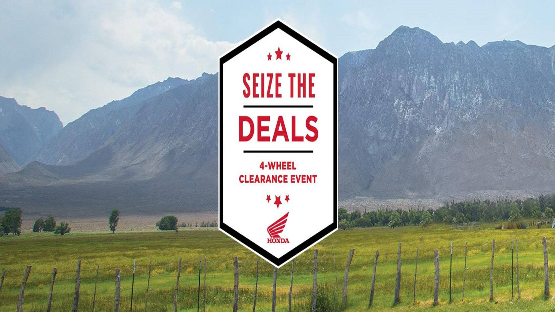 Honda - Rec / Utility ATVs - Seize the Deals Factory to Dealer Incentives
